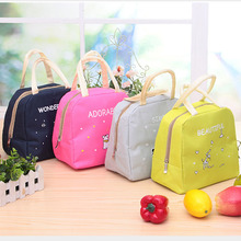 Cute Cartoon Japanese Lunch Bag Fruit Food Picnic Bag Big Canvas Thermal Insulated Lunch Bag for Kids Women цена