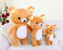 big kawaii plush toy 80cm rilakkuma plush, super cute japanese stuffed animal rilakkuma pillow teddy bear doll