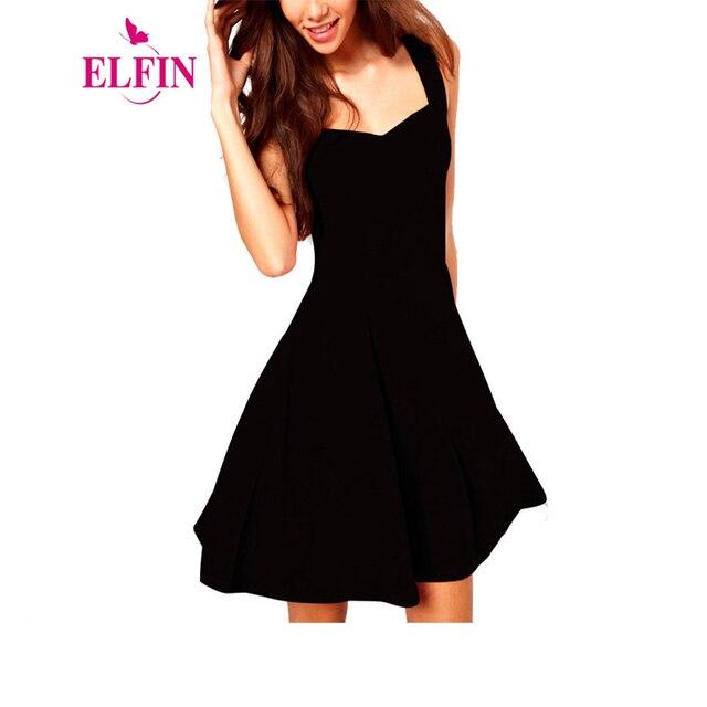 297e64990a8 4 Colors Women Sexy Little Black Dress 2017 Spring Summer Vestido Fashion  Casual Classic Brief A Line Skater Mini Dress LJ3030R