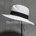 Новый летний широкими полями соломы пляж шапки для женщин насыщенный белый Sunbonnet шляпы женский бесплатная доставка SDDS-023