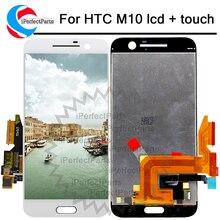 """100% اختبار جيد 5.2 """"2560x1440 ل HTC ONE M10 LCD تعمل باللمس ل HTC M10 10 عرض محول الأرقام الجمعية استبدال جزء"""