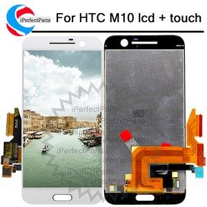 Image 1 - ЖК дисплей 100% дюйма 5,2x2560 для HTC ONE M10, сенсорный экран для HTC M10 10, дигитайзер в сборе, запасная часть, 1440 тест