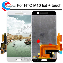 "% 100% test İyi 5.2 ""2560x1440 HTC ONE M10 LCD dokunmatik ekran HTC M10 10 ekran digitizer meclisi yedek parça"