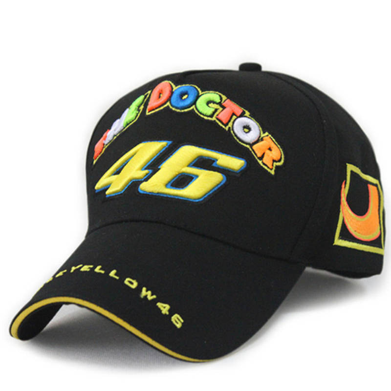 2017 New Cotton Rossi VR 46 Embroidery Baseball Caps Hat for men MOTOGP VR46 Racing Cap Snapback gorras Hip Hop Casquette 2016 new cotton sports rossi vr46 caps motogp racing motorcycle baseball cap car visors sun hats casquette