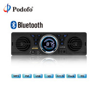 Podofo Bluetooth 1 Din Car Stereo Audio In Dash MP3 Radio Player USB/TF/AUX/ Audio Player Car Stereo FM Radio Built in 2 Speaker