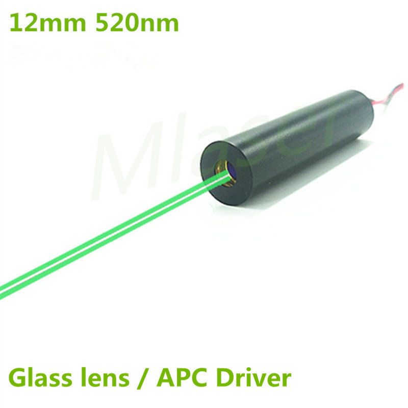 520nm 1mW 5mW 10mW 30mW 50mW Green Laser Dot Diode Module 2.8-7.5V DC Input 12mm Industrial Grade APC Driver