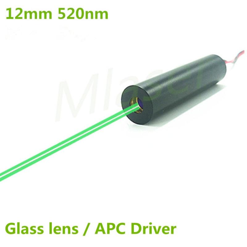 520nm 1mW 5mW 10mW 30mW 50mW Green Laser Dot Diode Module 2.8-7.5V DC Input 12mm Industrial Grade APC Driver