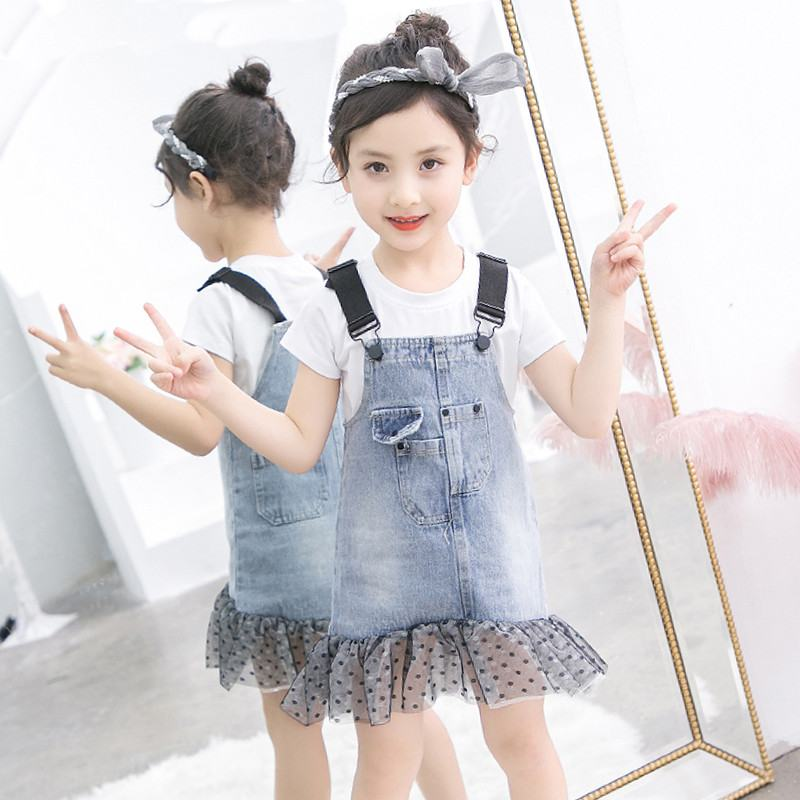 2019 New Summer Fashion Kids Cotton Sets Teenage Girls Letter Print Tops+Jeans Strap Dress Tracksuits Baby Girl Clothes 2Pcs T382019 New Summer Fashion Kids Cotton Sets Teenage Girls Letter Print Tops+Jeans Strap Dress Tracksuits Baby Girl Clothes 2Pcs T38