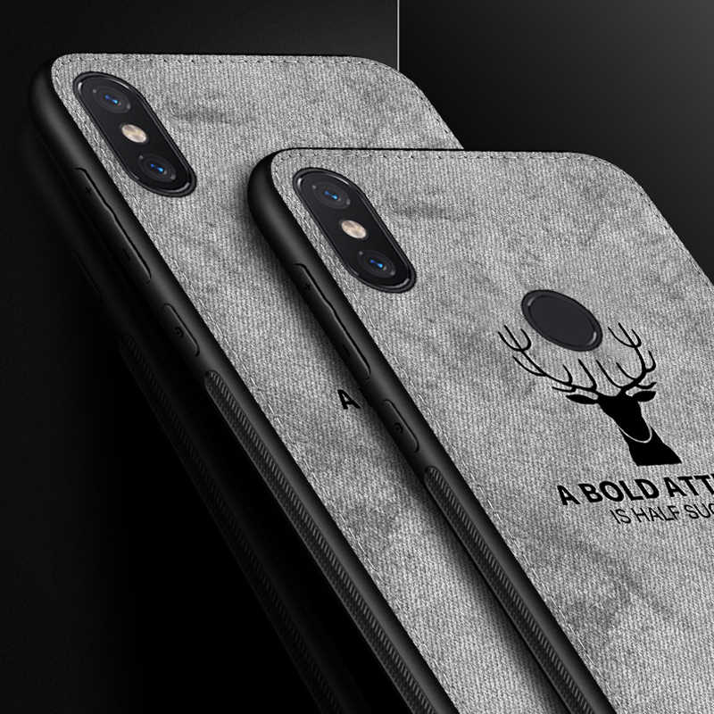 Soft TPU edge Cloth Cover for xiaomi Pocophone F1 case Canvas Embossed Deer cases for xiaomi mi 8 mi8 6 mi6 5 max 3 2 max3 Case