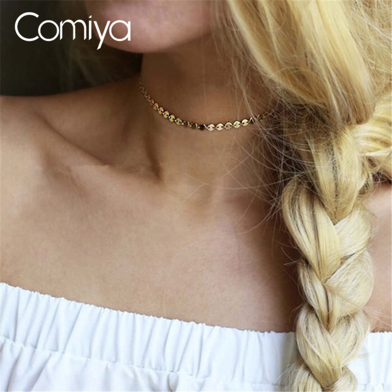 Comiya Bohemia Jewelry Acessories Statement Fashion Zinc Alloy Sheets Charm Choker Necklaces For Women Wholesale Cute Necklace