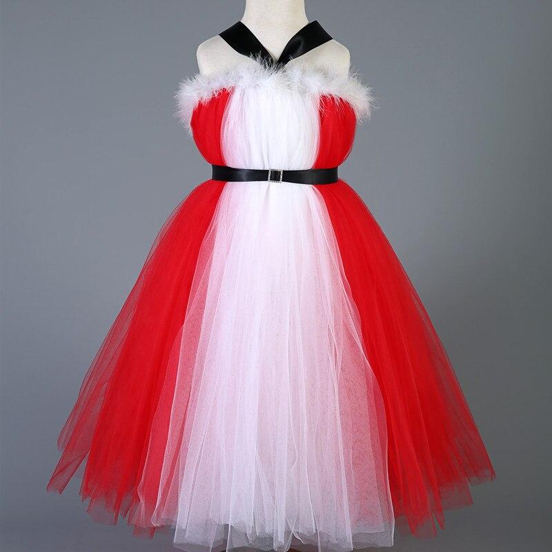 Nuevo estilo bebé niñas vestido de fiesta de Navidad rojo Tulle ...