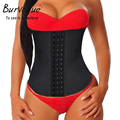 Burvogue Women Latex Corset Waist Control Corset and Bustier Steel Bone Underbust Waist Trainer Corset Slimming Shaper Corselet