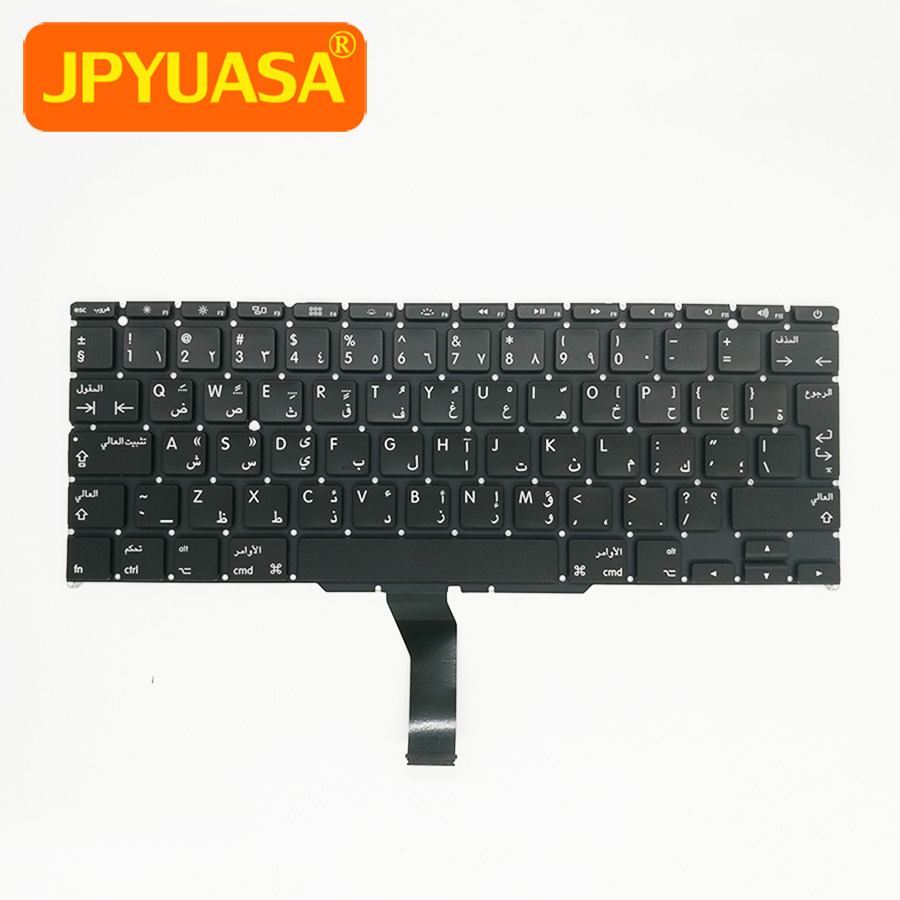 20pcs/lot New Arabic AR Replacement Keyboard For Apple Macbook Air 11 A1465 A1370 Keyboard Arabic Layout 2011-2015