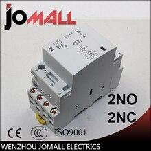 4P 20A  220V/230V 50/60HZ din rail household ac contactor 2NO 2NC