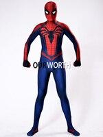 Red Black Insomniac Spiderman Costume 3D Print Spandex Insomniac Spider Man Costume Movie Cosplay Comic Costume
