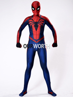 Red Black Insomniac Spiderman Costume 3D Print Spandex Insomniac Spider Man Costume Movie Cosplay Comic Costume