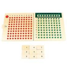 Montessori edukacyjne drewniane zabawki mnożenie i dzielenie koraliki deska do wczesnego dzieciństwa szkolenia przedszkole rodzina wersja