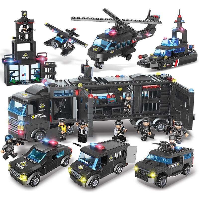 Dropwow 1115Pcs Kids Toys City Street Police Station Car Truck ... 080e73b164