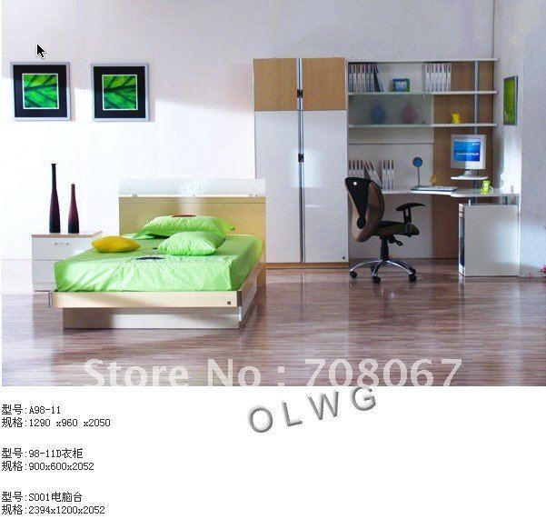 wardrobe/bed/bedroom furniture set/Panel furniture