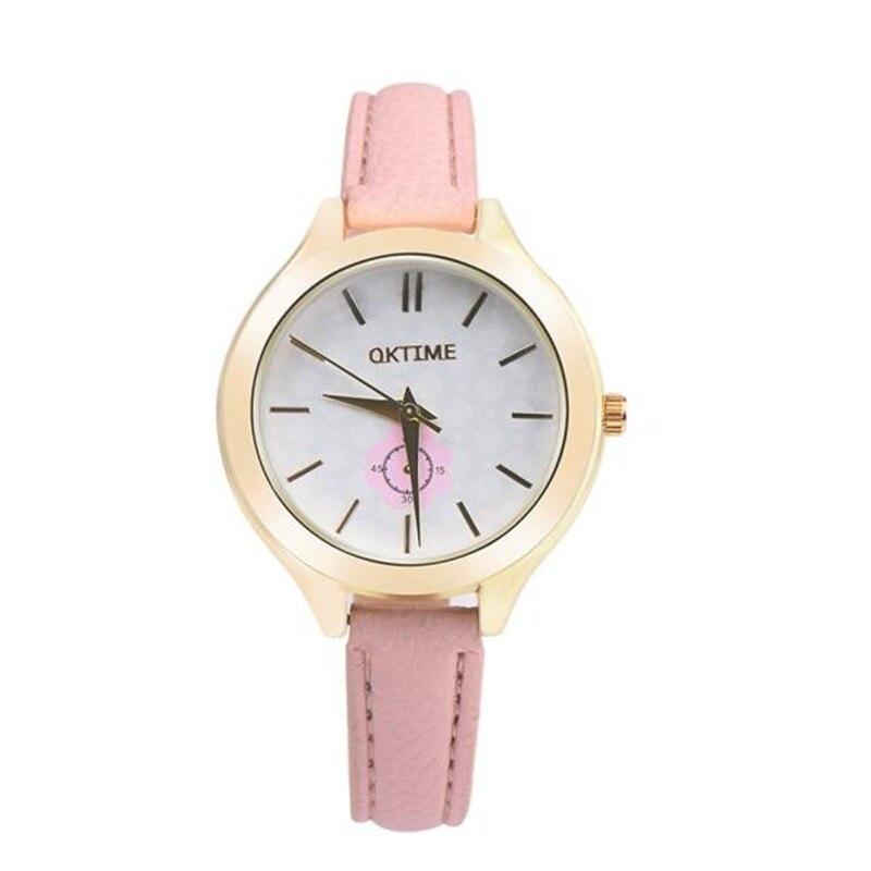 ②Moda de lujo de las mujeres relojes relogio feminino moda de cuero ...