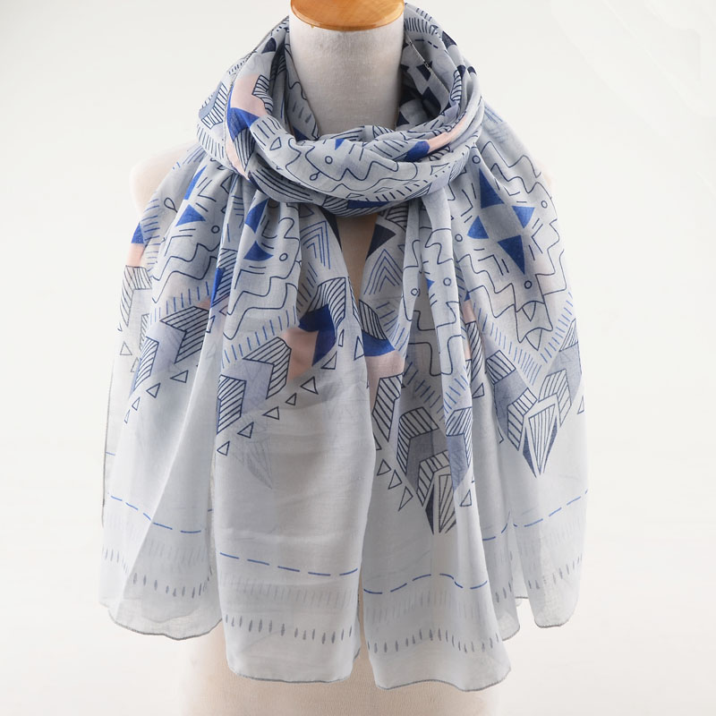 High quality women summer geometric   scarf  ,british style,viscose Muslim hijab,shawls and   scarves  ,head   scarf     wrap  ,ponchos and cape