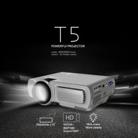 HOT T5 Smart Wireless Wifi Hd Led Projector Home Mini Micro Portable Mobile Phone Projection Screen Projection US Black