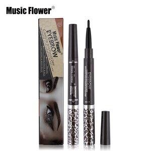 Музыкальный цветок 1 шт. двойной водонепроницаемый черный карандаш для бровей смешанный 3 вида цветов крем для бровей гелевая тушь для ресни...