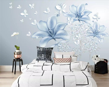 beibehang Custom wallpaper small fresh 3d stereo TV background wall simple European living room bedroom wall murals 3d wallpaper цена 2017