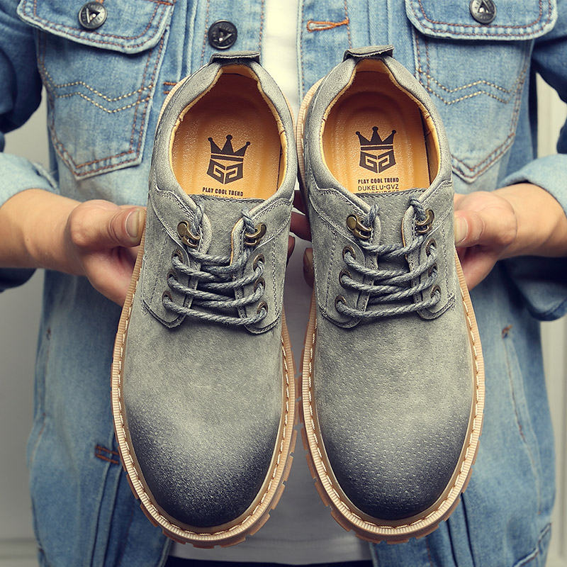 Men's Casual Leather Shoes Leather Inside The Increase Shoes Men's Shoes Summer Business Low Upper Big Overalls Boots