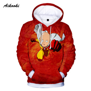 Aikooki Men's One Punch Man 3D Hoodies Sweatshirt Game Anime Autumn/Winter Handsome Coats Men/Women 3D hoodies ONE PUNCH-MAN