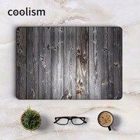 Black Wood Grain Full Cover Skin For Macbook Sticker Pro Air Retina 11 12 13 15