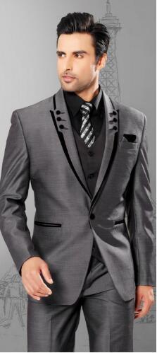 2019 новый мужской костюм на весну и осень, Костюм Джентльмена, модный костюм из трех предметов, трендовый деловой комфортный костюм [пальто, ж... - 4