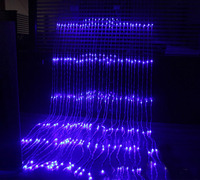 320LED bulbs water flow snowing effect curtain led waterfall string Lights 3M*3M Christmas Xmas Wedding Party Background garden