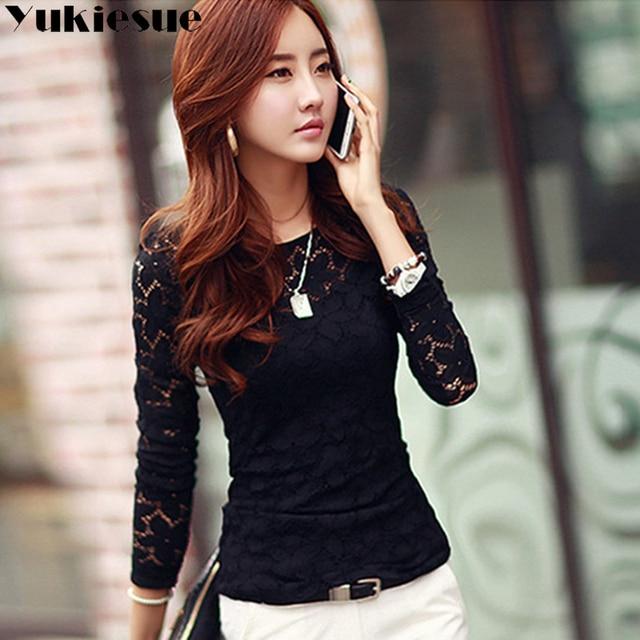 Lace blouse women's shirt blusas womens tops and blouses long sleeve winter autumn blusas mujer de moda 2018 plus size 5XL 5
