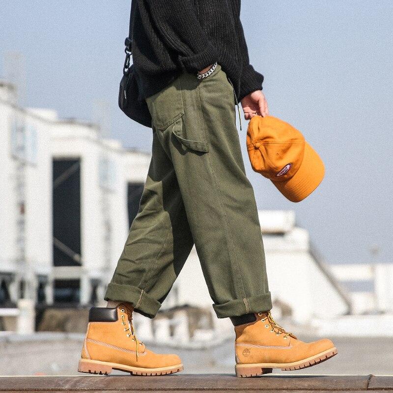 Ancha Verde Streetwear De Pantalones Nuevos Hip Harem Vintage Masculinos Casuales Hop Hombres Pierna Los Moda Harajuku qBHW06T