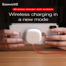10W fast Suction cup QI wireless charger for iPhone xs max xr x 8 plus Wireless charging base for Samsung s9 s8 plus xiaomi mix2