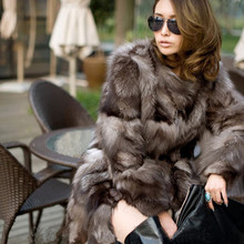 Best quality new fashion in winter Fox fur coats woman real fur coat women's vest natural silver Fox fur coat A#11