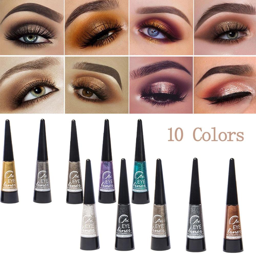 2018 New Style Eyeshadow Liquid Waterproof Glitter Eyeliner Shimmer Makeup Cosme