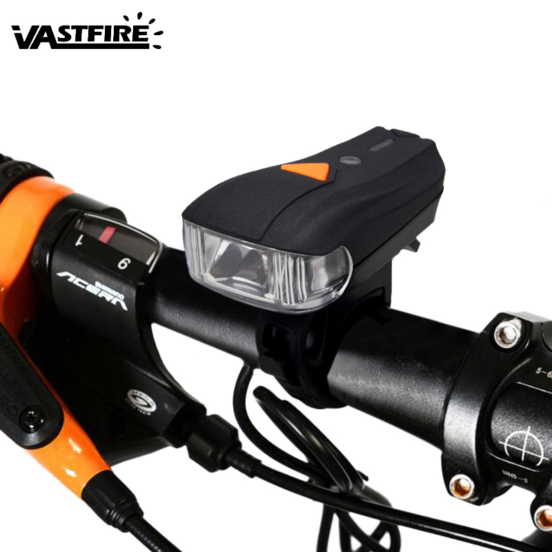 Bicycle Front Light USB Rechargeable Light Headlight Lamp FlashLight For Bike