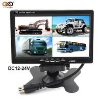 Sinairyu T704 5PCS/Lot Auto DC 12V~24V 7 LCD 4CH Video input Car Video Monitor Quad Split Screen 6 Mode Display
