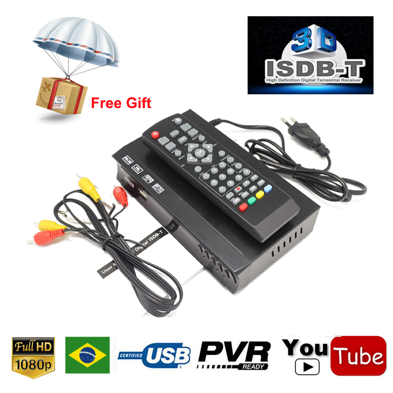 ISDB-T Tuner TV Receiver HDMI HD 1080P Video Digital Decoder Set Top Box FTA H.264 MPEG-4 PVR For Brazil Peru Chile Philippines
