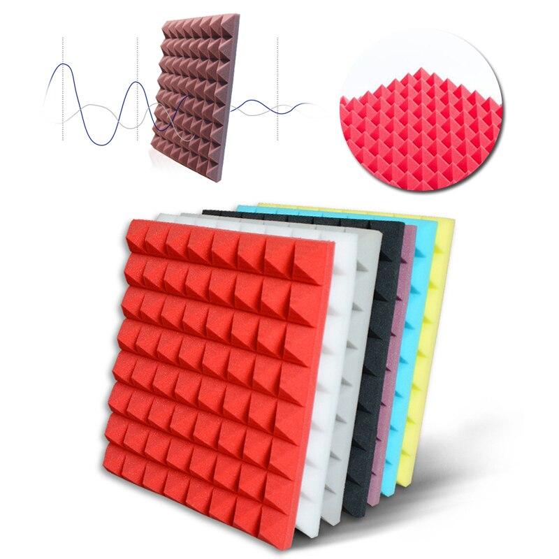 Звукопоглощающие губчатые звукоизоляционные пены акустическая пена регулирование звука студия поглощения комнаты Клин плитка полиуретановая пена