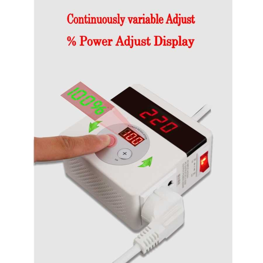 LED Digital AC 220V 4000W SCR Electronic Voltage Regulator Temperature Speed Adjust Controller Dimming Dimmer Thermostat