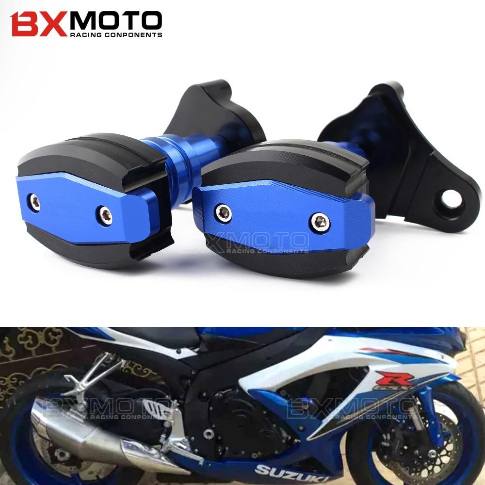 2x Falling Protectors Motorcycle CNC Aluminum For Yamaha YZF R6 2006 2007 Frame Slider Anti Crash Caps engine protection Moto