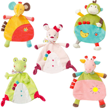 Soft Kawaii Animal Appease Towel Toys Baby Soothe Towel Infant Reassure Blankie Towel Educational Plush Kids Toys 27 CM A021