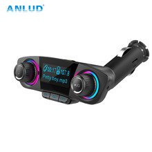 ANLUD FM Transmitter Bluetooth Handsfree Car Kit Aux Modulator Radio FM Car Audio TF AUX MP3 Player(China)