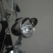 Silver Metal Bicycle 3AA 6 LED Headlight Headlamp Led Lamp Lumen with bracket Retro Bike Front Head Light Waterproof Flashlight