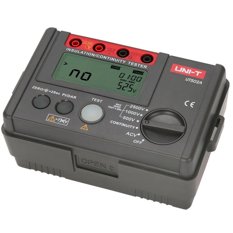 Verificador da isolação de UNI-T ut502a; megohmmeter