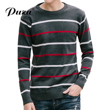 2017New Arrive Herfst Mode Sweater Casual Slim Fit Winter Striped Truien En Mannen Fashion Pullover Truine Men Effen Kleur M-5XL
