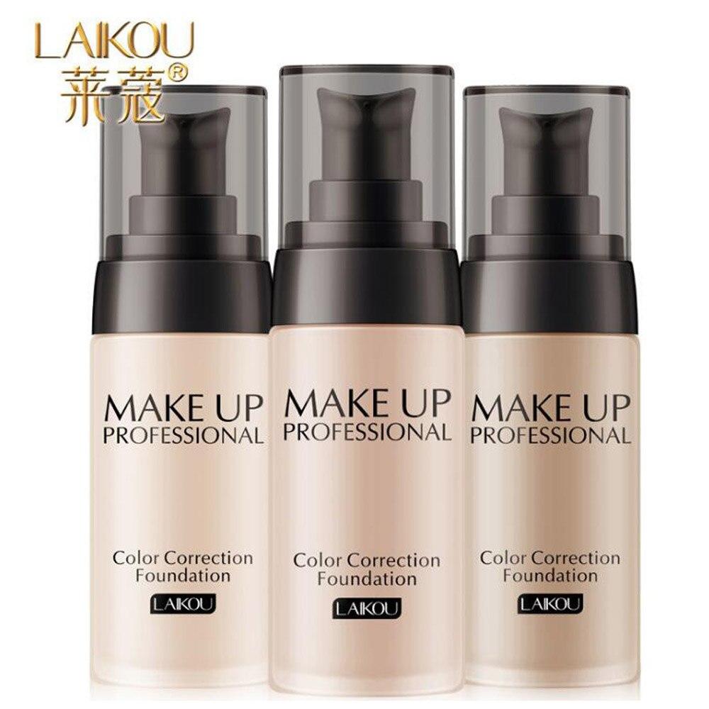 Women Pro 3 Colors Nude Makeup Face Foundation Liquid Cover Concealer Long Lasting Moisturizing Facial Base Liquid